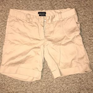 Khaki colored Drew fit The Limited shorts w